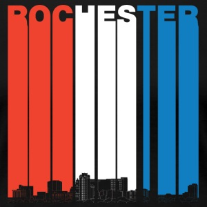 Red White And Blue Rochester Minnesota Skyline - Women's Premium T-Shirt