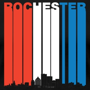 Red White And Blue Rochester New York Skyline - Women's Premium T-Shirt