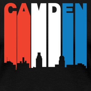 Red White And Blue Camden New Jersey Skyline - Women's Premium T-Shirt