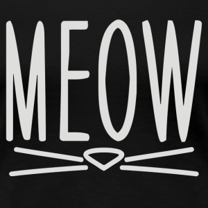 Meow Cute Cat Face - Women's Premium T-Shirt