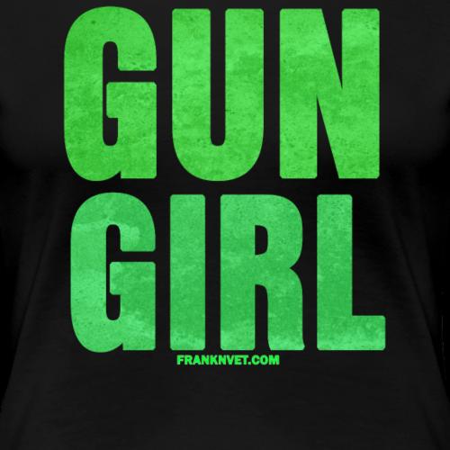 Gun Girl Green - Women's Premium T-Shirt