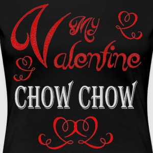 A romantic Valentine with my Chow Chow - Women's Premium T-Shirt