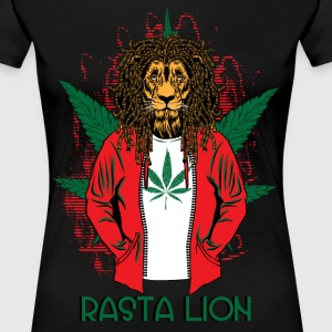 RASTA LION - Women's Premium T-Shirt