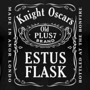 Knight Oscar's Estus Flask Label Design - Women's Premium T-Shirt