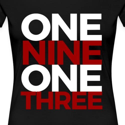 1913 - Red/White - Women's Premium T-Shirt