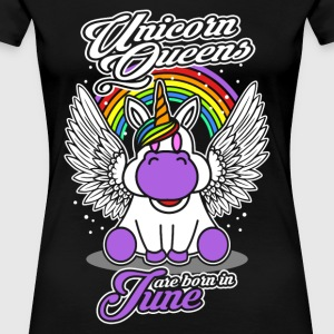 June - Birthday - Unicorn - Queen - EN - Women's Premium T-Shirt