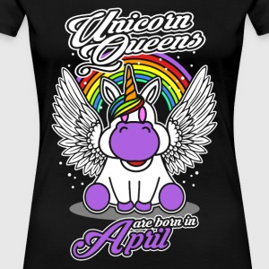 April - Birthday - Unicorn - Queen - EN - Women's Premium T-Shirt