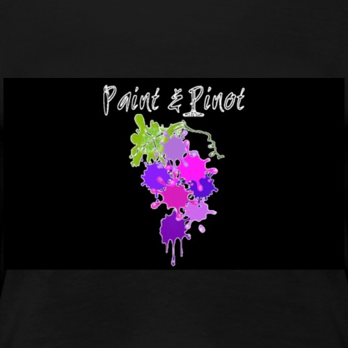 Bllack background main Paint and Pinot logo design - Women's Premium T-Shirt