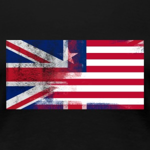 British Liberian Half Liberia Half UK Flag - Women's Premium T-Shirt