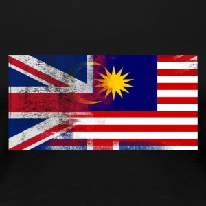 British Malaysian Half Malaysia Half UK Flag - Women's Premium T-Shirt