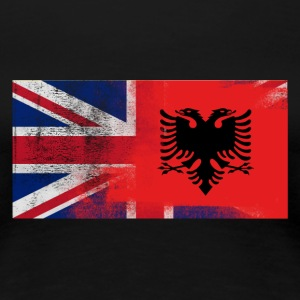 British Albanian Half Albania Half UK Flag - Women's Premium T-Shirt
