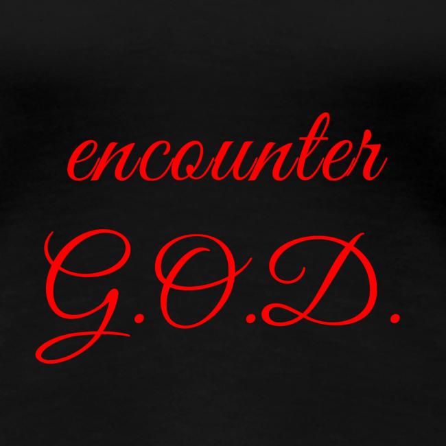 """inspi shirt-7: """"encounter G O D"""" (red)"""