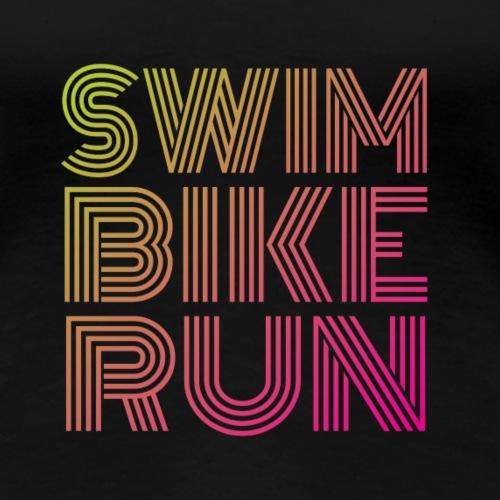 Triathlon design - Women's Premium T-Shirt