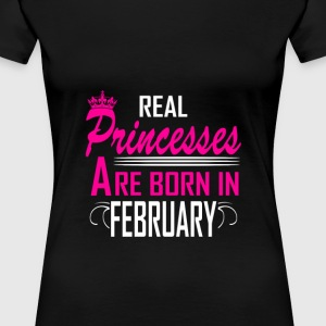 February - Birthday - Princess - EN - Women's Premium T-Shirt