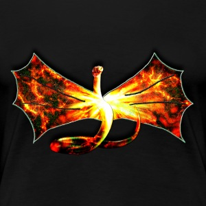 Flaming winged Serpent - Women's Premium T-Shirt
