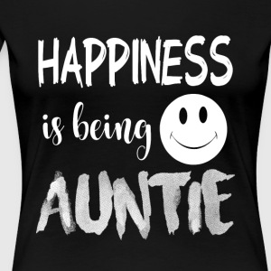 Happiness Is Being Auntie T Shirt - Women's Premium T-Shirt