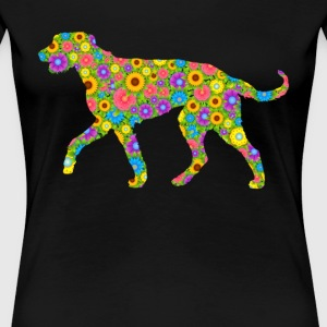 Irish Wolfhound Flower Shirt - Women's Premium T-Shirt