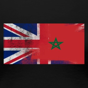 British Moroccan Half Morocco Half UK Flag - Women's Premium T-Shirt