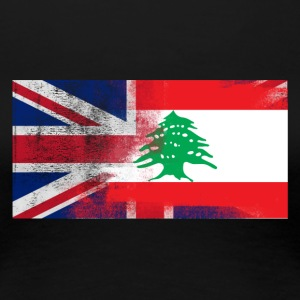 British Lebanese Half Lebanon Half UK Flag - Women's Premium T-Shirt