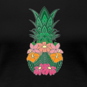 Flowered Pineapple - Women's Premium T-Shirt