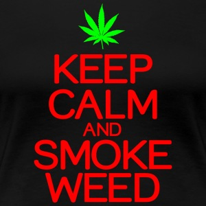 Keep calm smoke weed - Women's Premium T-Shirt