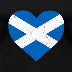 Scotland Flag Shirt Heart - Scottish Shirt - Women's Premium T-Shirt