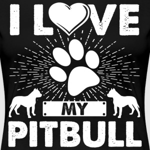 Love My Pitbull Dog Puppies T-shirt Pitbull Tee - Women's Premium T-Shirt