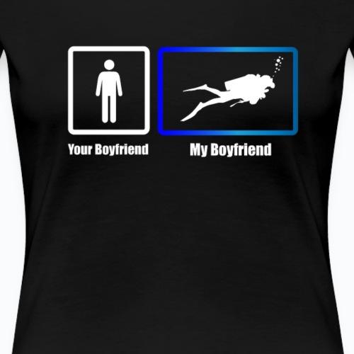 My Boylfriend Scuba Diver - Women's Premium T-Shirt