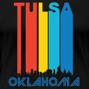 Retro Tulsa Skyline - Women's Premium T-Shirt