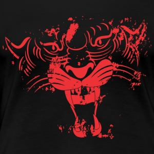 Red TIGER FACE - Women's Premium T-Shirt