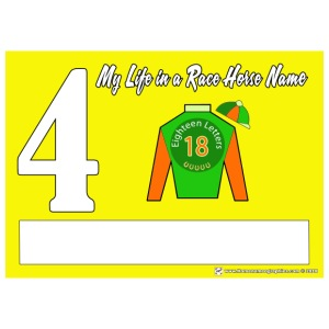 My Race Horse Name: Saddle Cloth #4 - Women's Premium T-Shirt