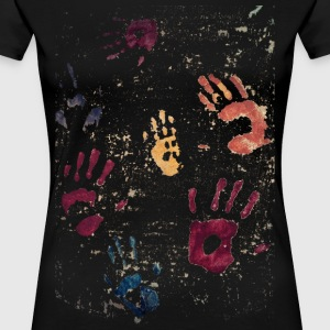Hands paint - Women's Premium T-Shirt