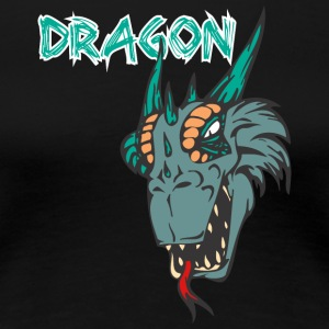dragon_with_tongue_color - Women's Premium T-Shirt