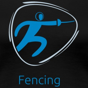 Fencing_blue - Women's Premium T-Shirt