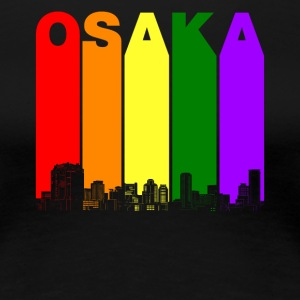 Osaka Japan Skyline Rainbow LGBT Gay Pride - Women's Premium T-Shirt