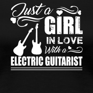 Girl In Love With Electric Guitarist Shirt - Women's Premium T-Shirt