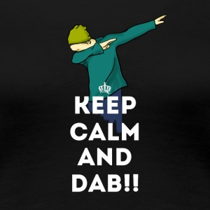 keep calm dab dabbing football touchdown LOL - Women's Premium T-Shirt