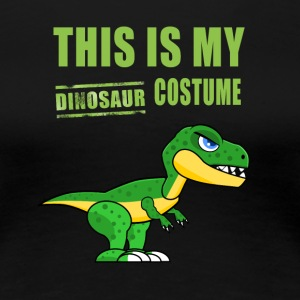 Dinosaur costume cute Green Humor fun carneval lol - Women's Premium T-Shirt