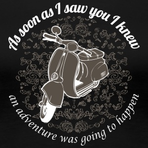 Vespa - As soon as I saw you I knew... - Women's Premium T-Shirt
