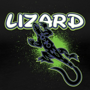 Lizard_with_text_25 - Women's Premium T-Shirt