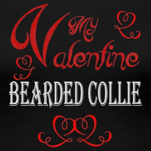 A romantic Valentine with my Bearded Collie - Women's Premium T-Shirt