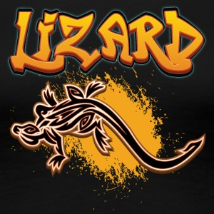 Lizard_with_text_11 - Women's Premium T-Shirt