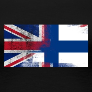 British Finish Half Finland Half UK Flag - Women's Premium T-Shirt