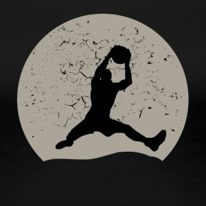 Basketball Full Moon - Women's Premium T-Shirt