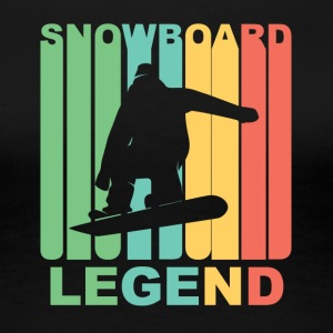 Vintage Snowboard Legend Graphic - Women's Premium T-Shirt