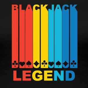 Vintage Blackjack Legend Graphic - Women's Premium T-Shirt