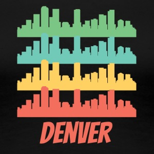 Retro Denver CO Skyline Pop Art - Women's Premium T-Shirt