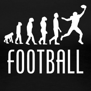 Football Evolution Wide Receiver - Women's Premium T-Shirt