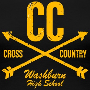 CC Cross Country Washburn High School - Women's Premium T-Shirt