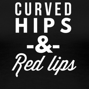Curved hips and red lips - Women's Premium T-Shirt